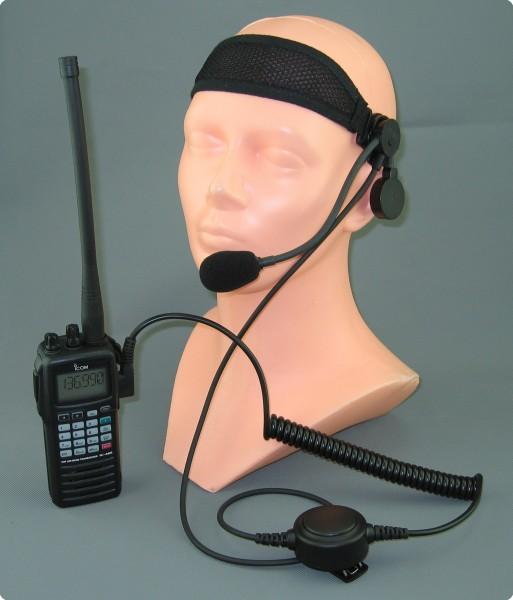 Stirnband Headset Icom Flugfunk