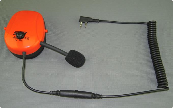 Stihl advance kompatibles PTT-Funk Headset Umrüstung