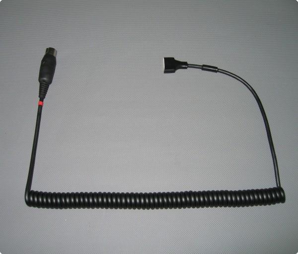 Helm Zuleitung mit Goldwing® kompatiblen 5 Pin Stecker - Goldwing® Helmeinbausatz