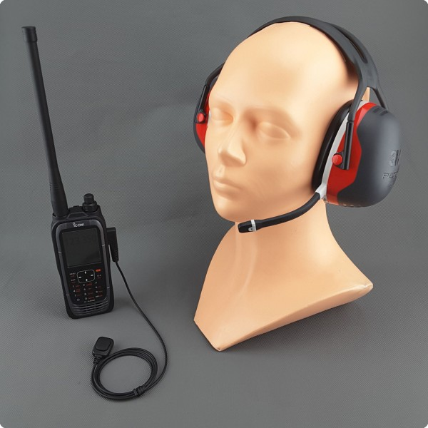 Bluetooth® Lärmschutz Headset für Icom® Flugfunk IC-A25