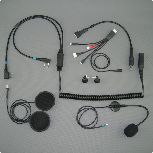 Paragliding / Drachenflug Dual Com Headsetgarnitur (Icom Air / Kenwood)