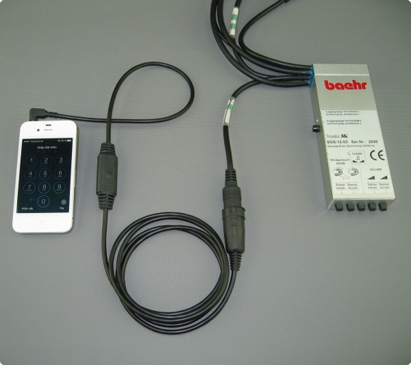 Iphone / Baehr® Adapterkabel 3 fach galvanisch getrennt