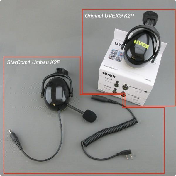 Uvex® kompatibler Helmfunk K2H-Kapsel