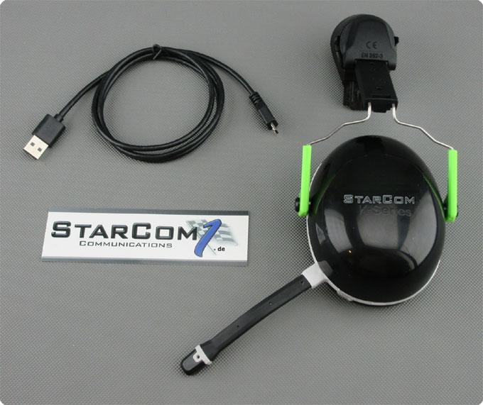 Uvex® kompatibler Bluetooth Helmfunk - Lieferumfang