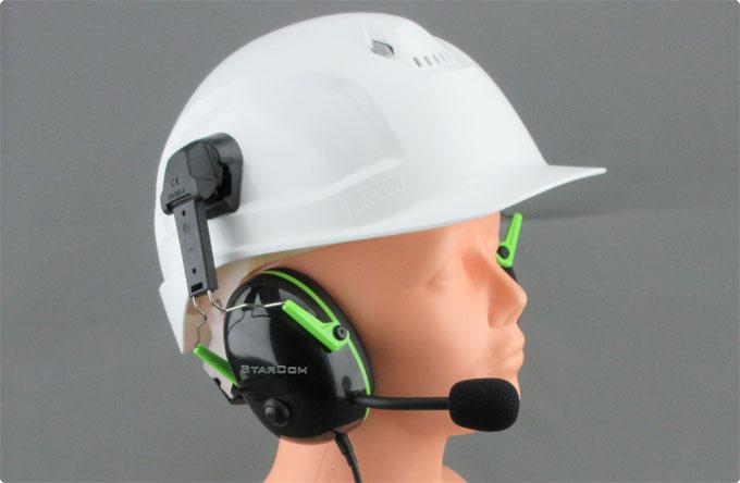 Uvex® kompatibles Helmfunk Headset von StarCom1 K1H