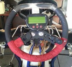 Einbau Peltor Kupplung und PTT-Taste am Racing Kart