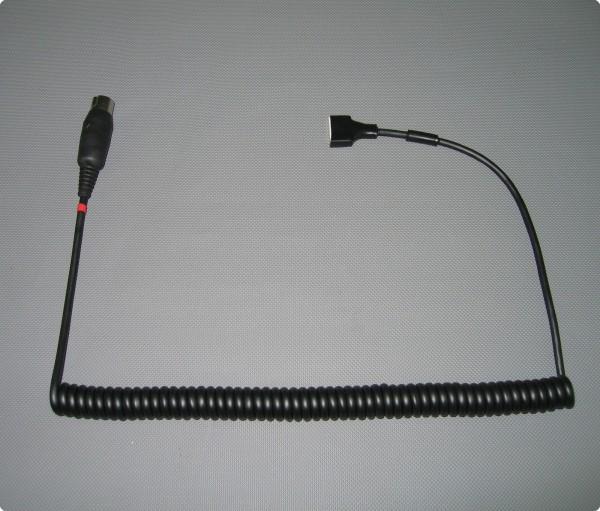 Helm Zuleitung mit Autocom 7 Pin Stecker - Autocom Pro Helmeinbausatz
