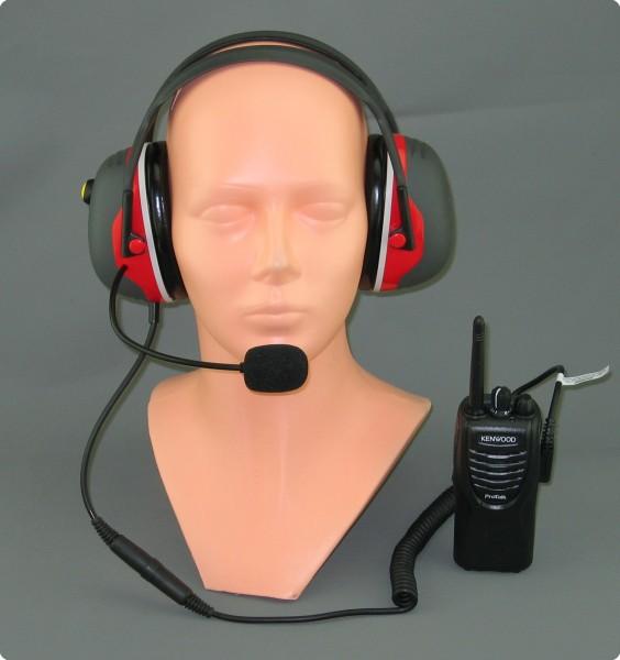 Kenwood / X-Serie Lärmschutz / Gehörschutz PTT-Headset, EN352,CE