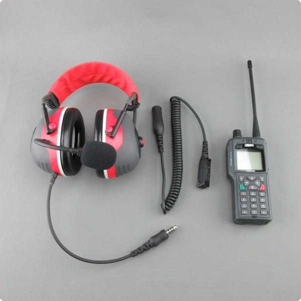 Sepura® STP 9000 mit Lärmschutz PTT Funkheadset