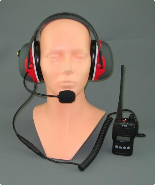 PTT-Lärmschutz Headset X-Serie / Alinco DJ A446