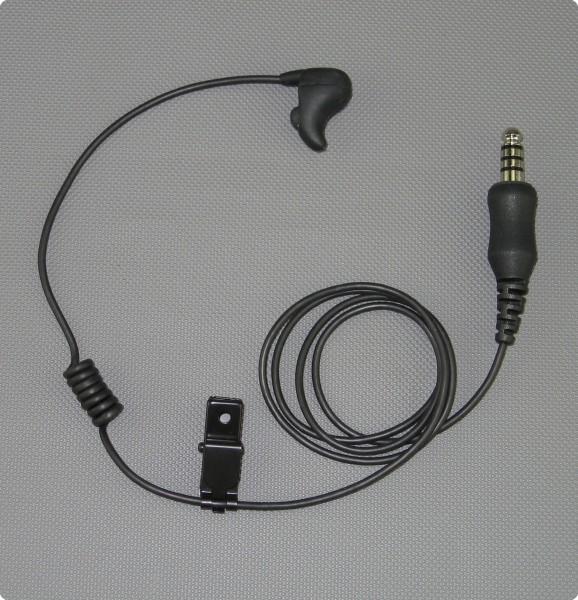 SAVOX E-C, Ohrmikrofon-Lautsprecher EX, Spiralkabel, 4pol. Stecker (*)