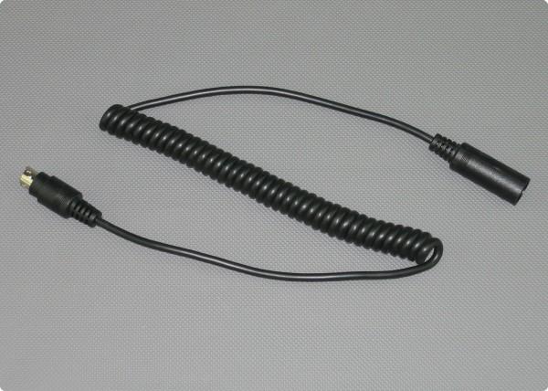 IMC-Spiralkabel MINI-DIN für MIT-15 / MIT-30 / MIT-100 / MIP-200 Helmsprechanlagen
