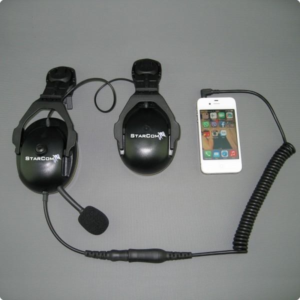Husqvarna® kompatibles Iphone Headset DoubleCom