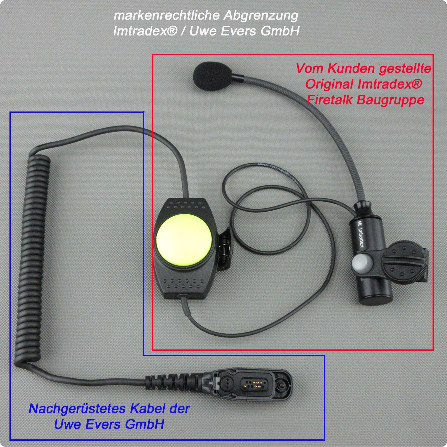 Imtradex® Firetalk Headsets mit FUG850 Anschlusskabel