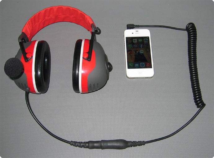 Iphone und Gehörschutzheadset CAB-88 Adapterkabel