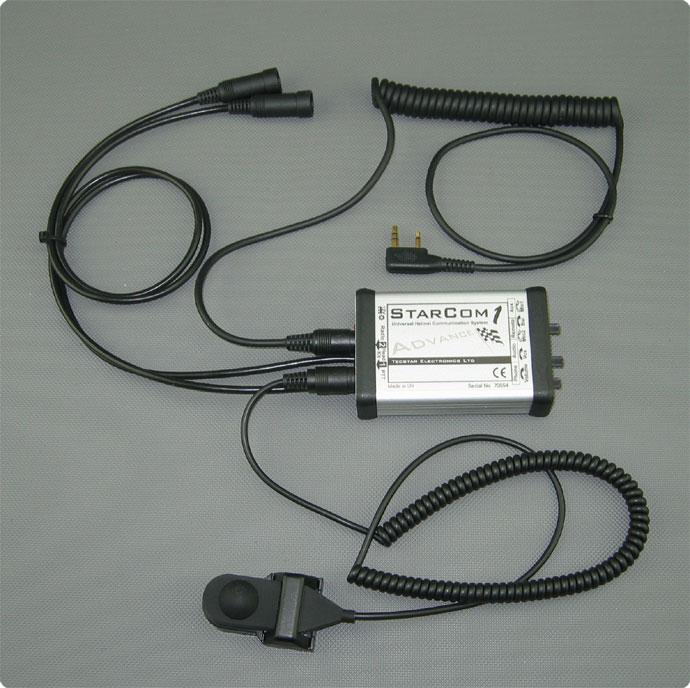 StaCom1 advance in Kombination mit Funkkabel und PTT-Taste