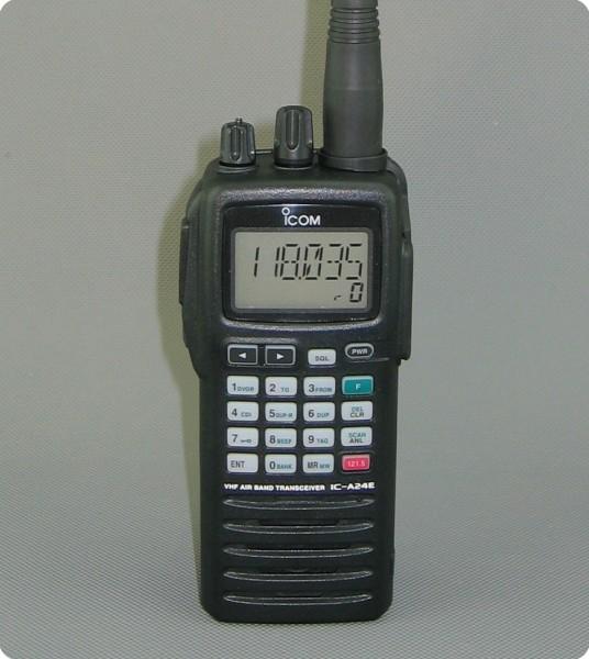 Icom IC-A24E Flugfunk Air Radio / NAV / VOR