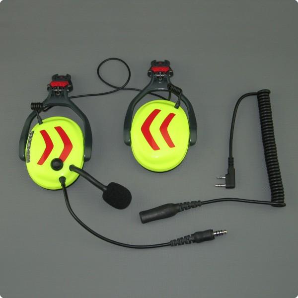 Dual Com Umbauservice für eine Pfanner® Protos® Gehörschutzkapsel