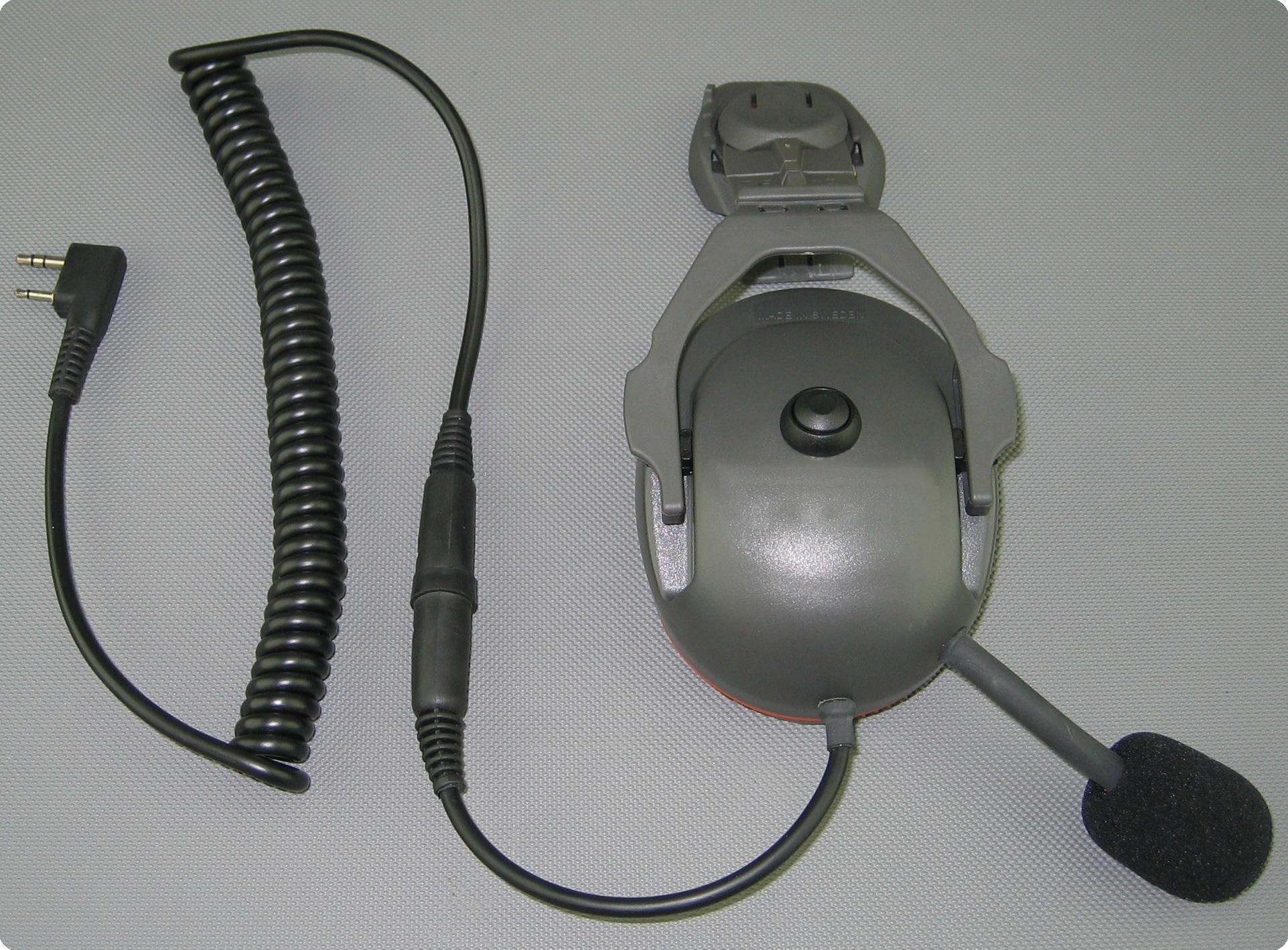 Husqvarna technical kompatibles PTT-Funk Headset Umrüstung