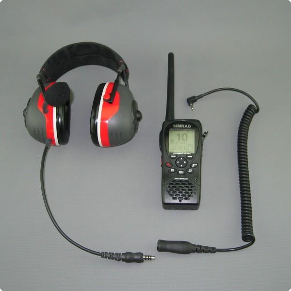 SIMRAD® HH36 / Lowrance® Link-2  kompatibles PTT-/ Lärmschutz Headset