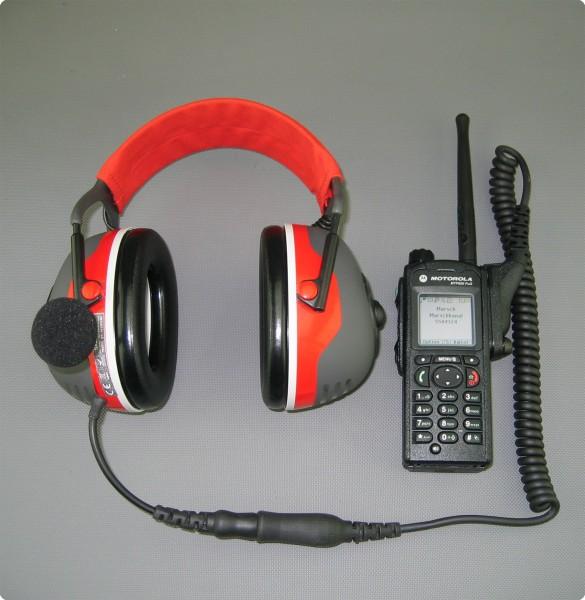 Motorola® MTP850 Fug komaptibles PTT-/ Funk Headset