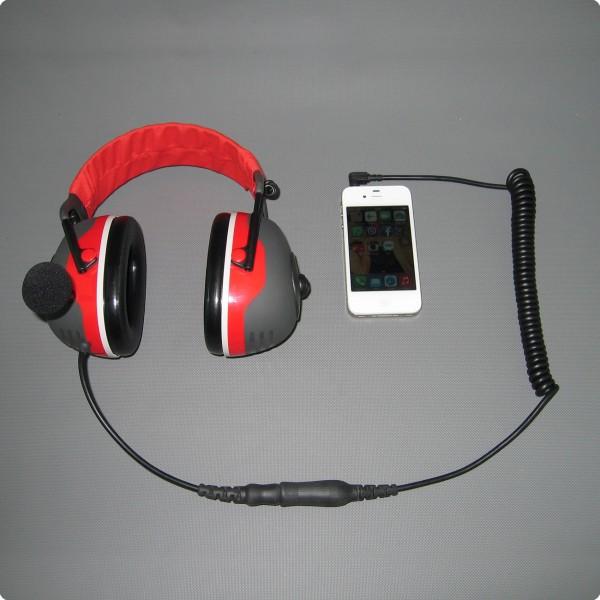 Iphone / HTC Direktanschluss für Peltor® 4 PIN Kupplung CAB-88