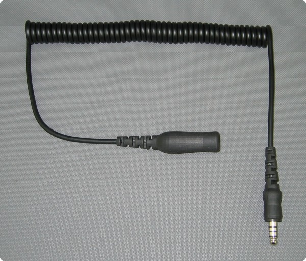 4 Pin Peltor® kompatibles Spiralkabel